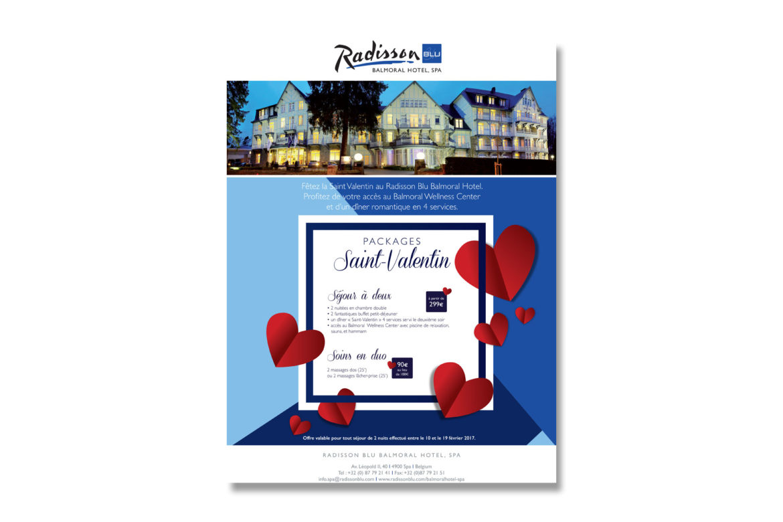 Affiche Radisson Blu Balmoral de Spa : St-Valentin