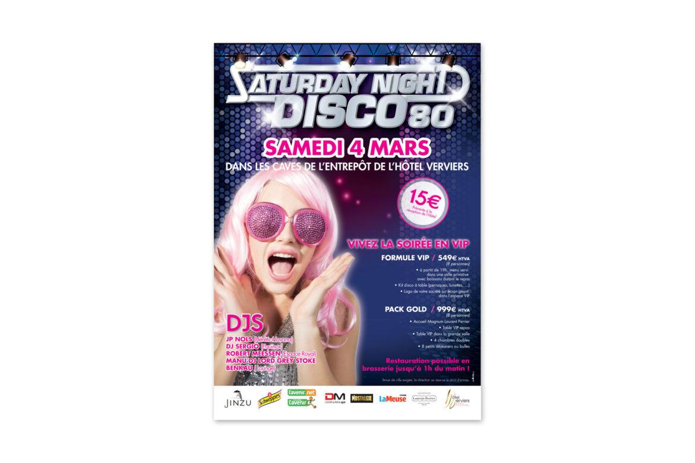 Affiche Saturday Night Disco 80