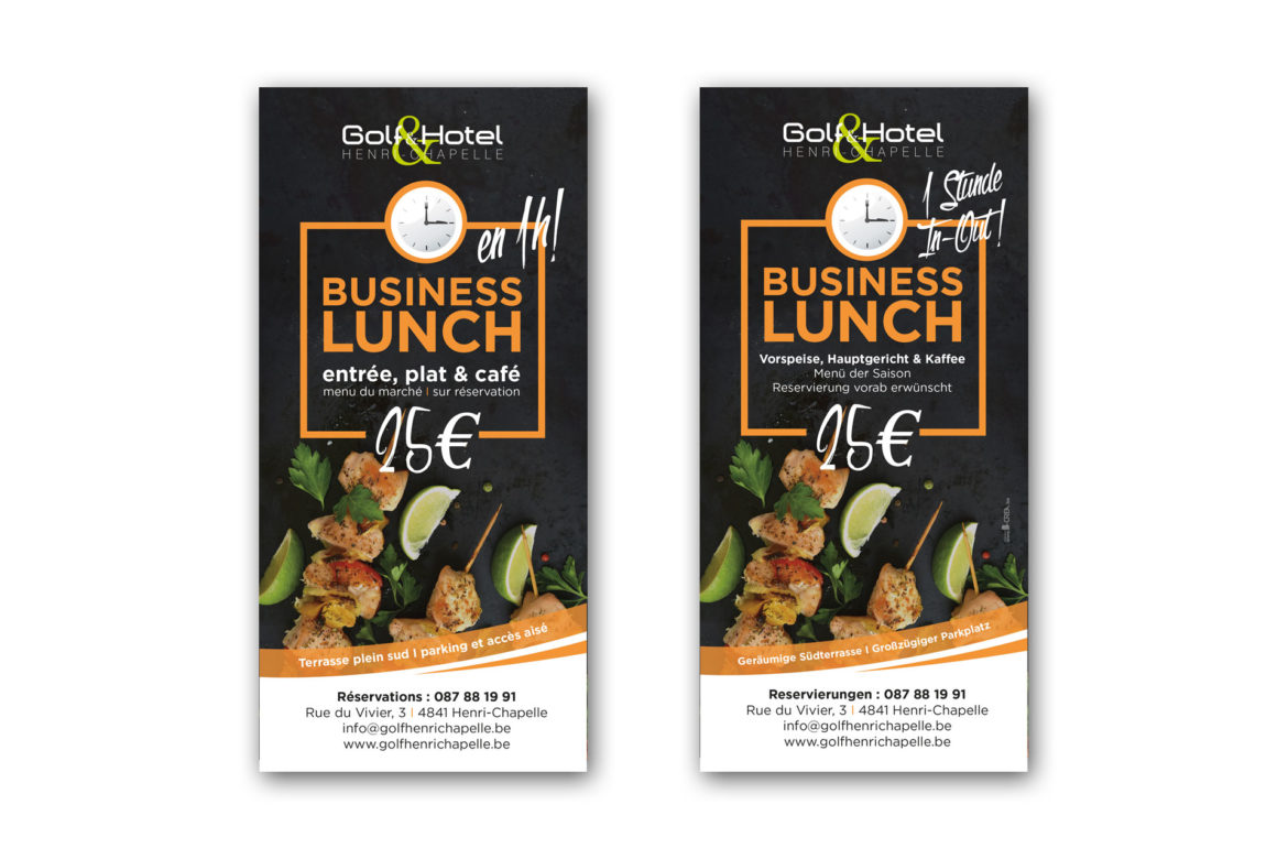 Flyers Golf Henri-Chapelle : business lunch