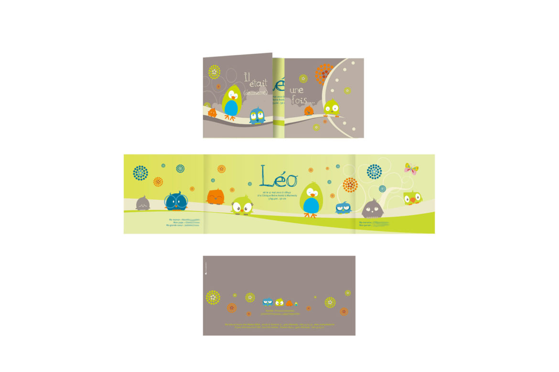 Faire-part naissance Léo