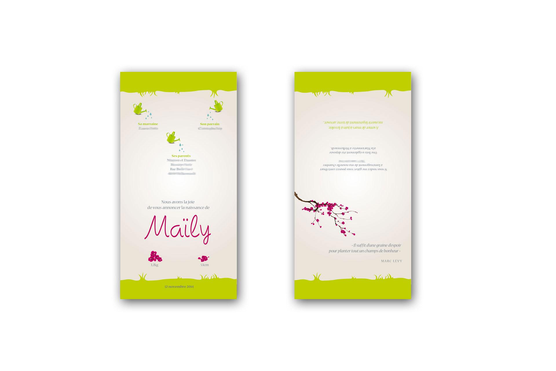 faire part de naissance Maily