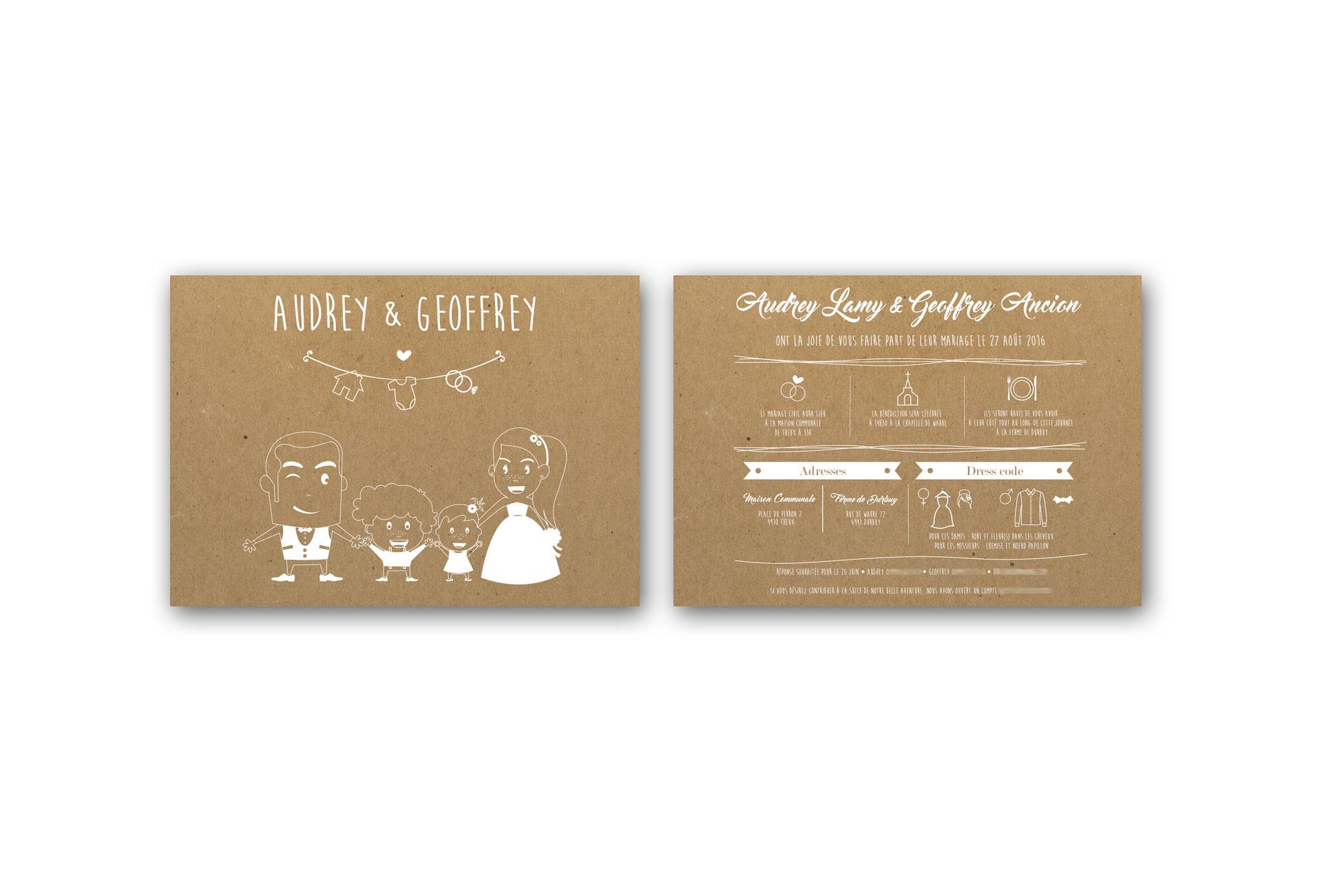 faire part de marriage de Audrey et Geoffrey