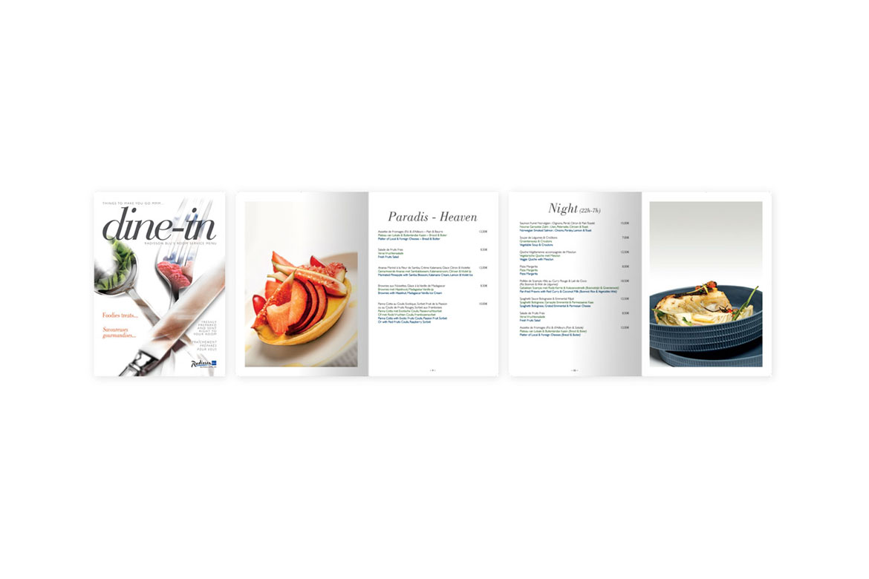 Brochure room-service Radisson Blu Balmoral Spa