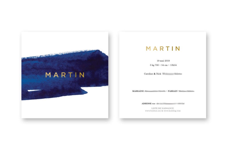 Faire-Part de naissance Martin