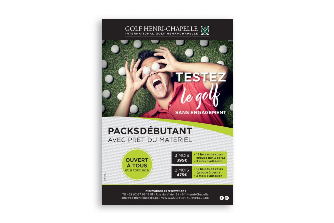 Affiche Golf Henri-Chapelle Testing Day