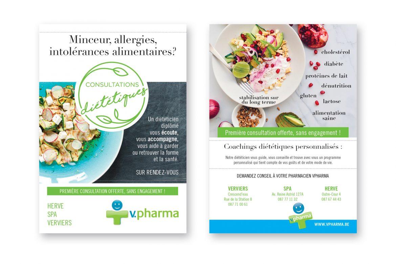 Flyers V Pharma : diététique