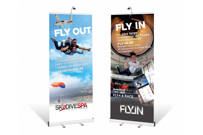 Rollup Skydive Spa
