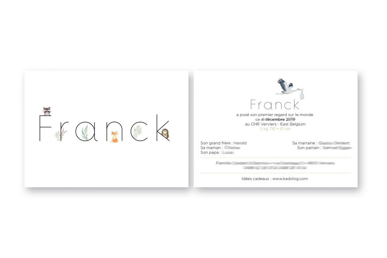 Faire-part naissance Franck